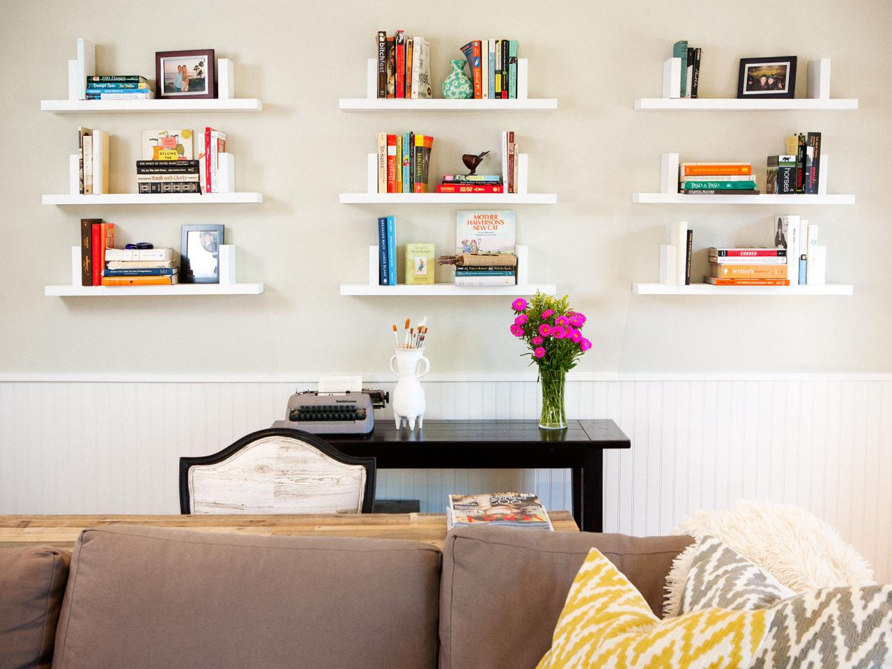 Amazing 12 Ways To Decorate With Floating Shelves | Hgtv's Decorating intended for Fresh Living Room Shelving