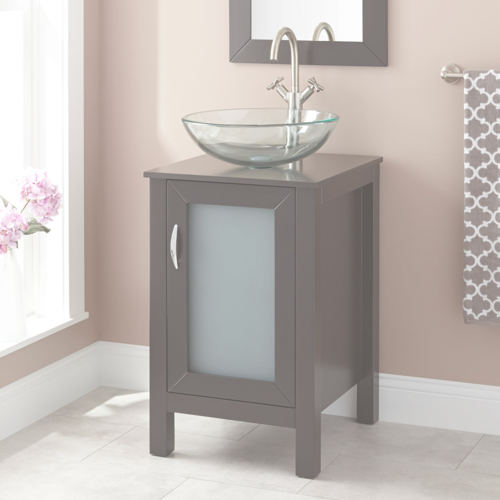 "Amazing 19"" Claxton Vessel Sink Vanity - Espresso - Bathroom inside Petite Bathroom Vanity"