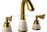 Amazing 2018 Basin Faucet Brass With Ceramic Bathroom Mixer Titanium Gold regarding Gold Faucet Bathroom