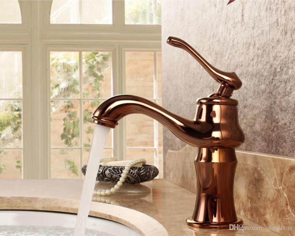 Amazing 2018 Bathroom Faucets Bronze Rose Gold Color Faucet Brass Bath Basin throughout High Quality Gold Faucet Bathroom