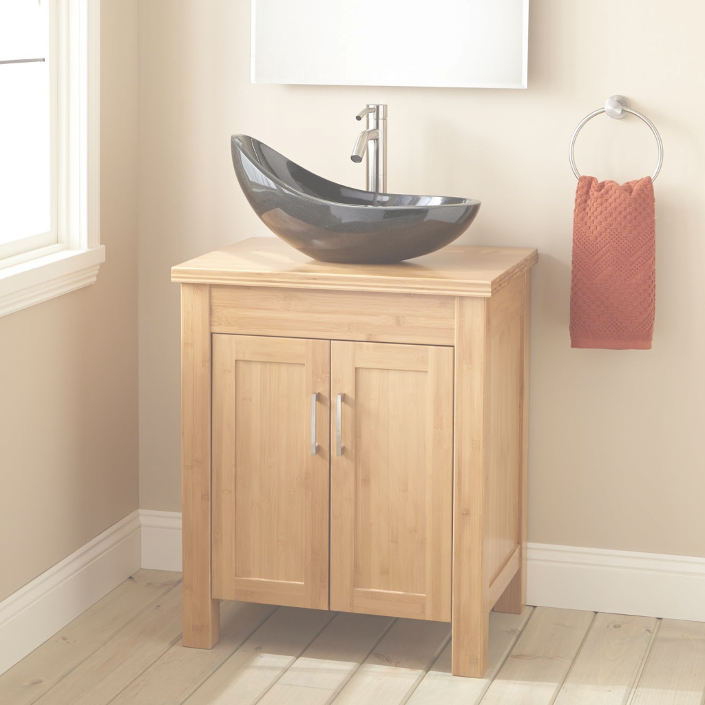 "Amazing 24"" Narrow Depth Bashe Bamboo Vessel Sink Vanity - Bathroom throughout Inspirational Narrow Depth Bathroom Vanities"