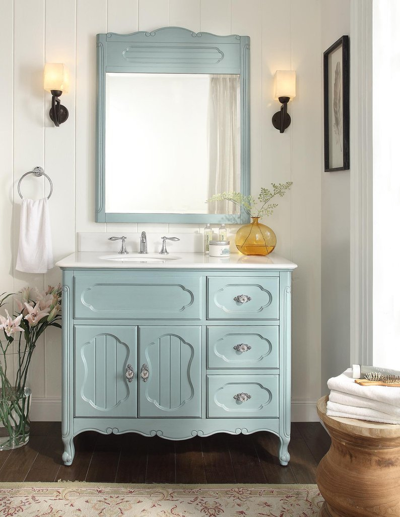 "Amazing 42"" Benton Collection Victorian Cottage Style Knoxville Bathroom inside Review Bathroom Sink And Vanity"