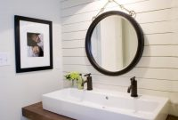 Amazing 5 Things Every Fixer Upper-Inspired Farmhouse Bathroom Needs with New Farmhouse Sink In Bathroom