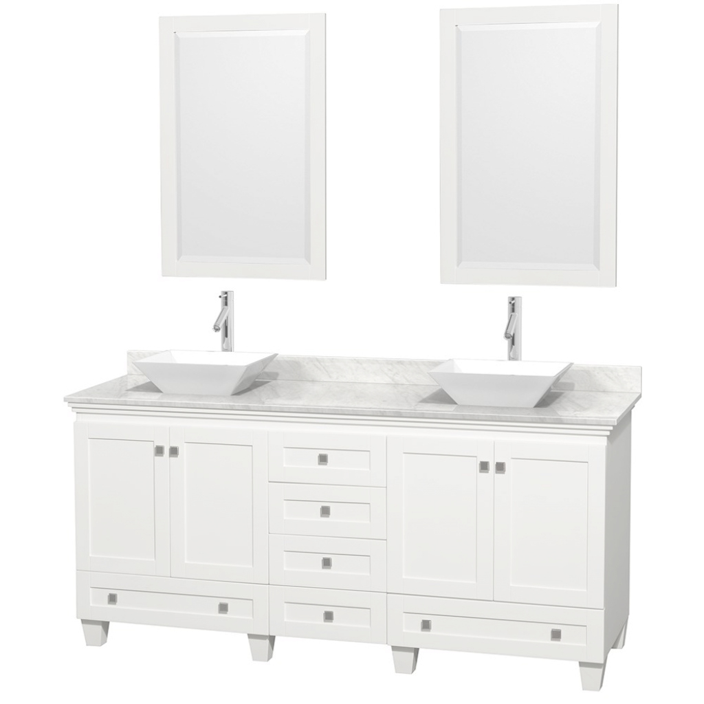 "Amazing 72"" Acclaim Double Bathroom Vanity W/ Vessel Sinkswyndham pertaining to Best of Bathroom Vanity With Vessel Sink"