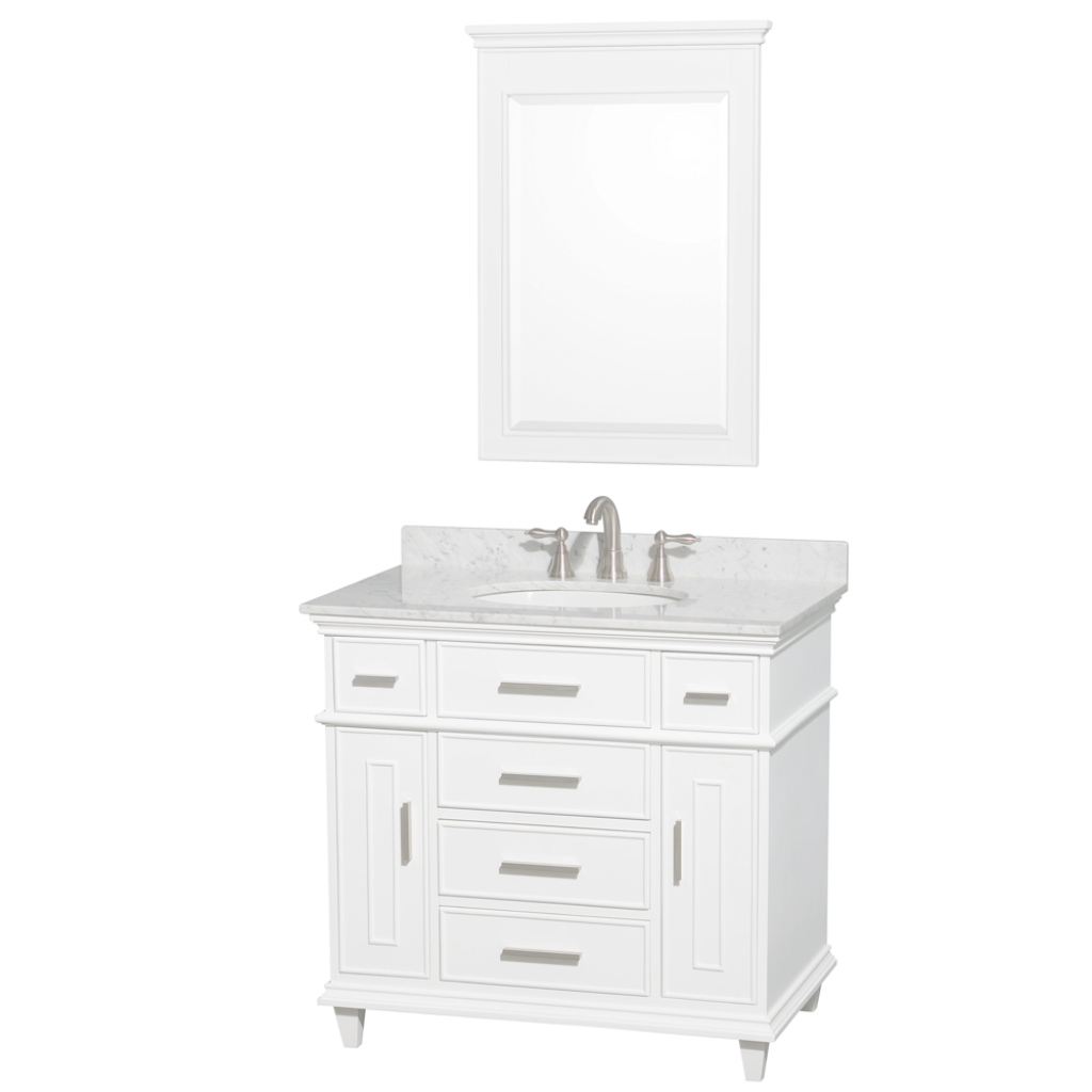 Amazing Ackley 36 Inch White Finish Bathroom Vanity inside 36 White Bathroom Vanity