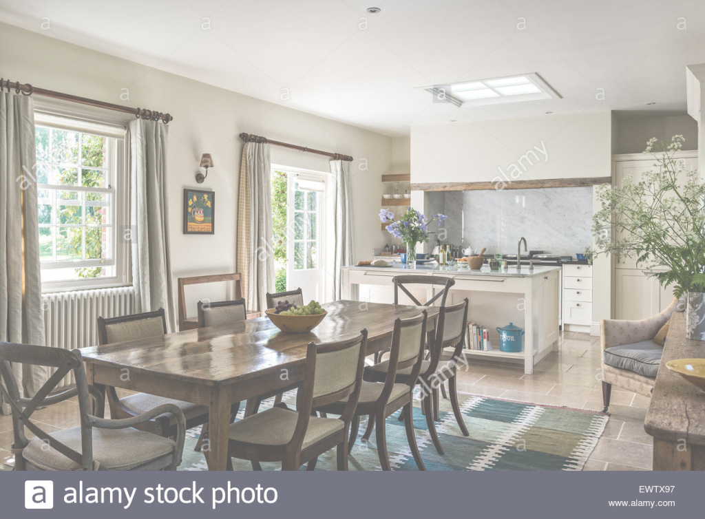 Amazing Antique Dining Table With Chairs In Open Plan Kitchen Dining Room within Inspirational Open Plan Kitchen Dining Room