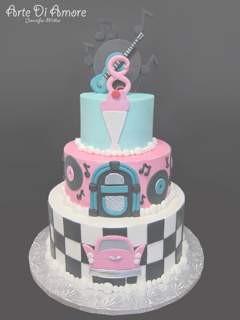 Amazing Awesome 50's Cake! | Kids Birthday | Pinterest | Cake, Deviantart regarding 50S Theme Party Decorations