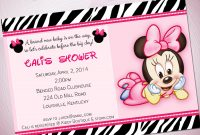 Amazing Baby Minnie Mouse Baby Shower Invitations | Invitation Ideas pertaining to Minnie Mouse Baby Shower Invitations
