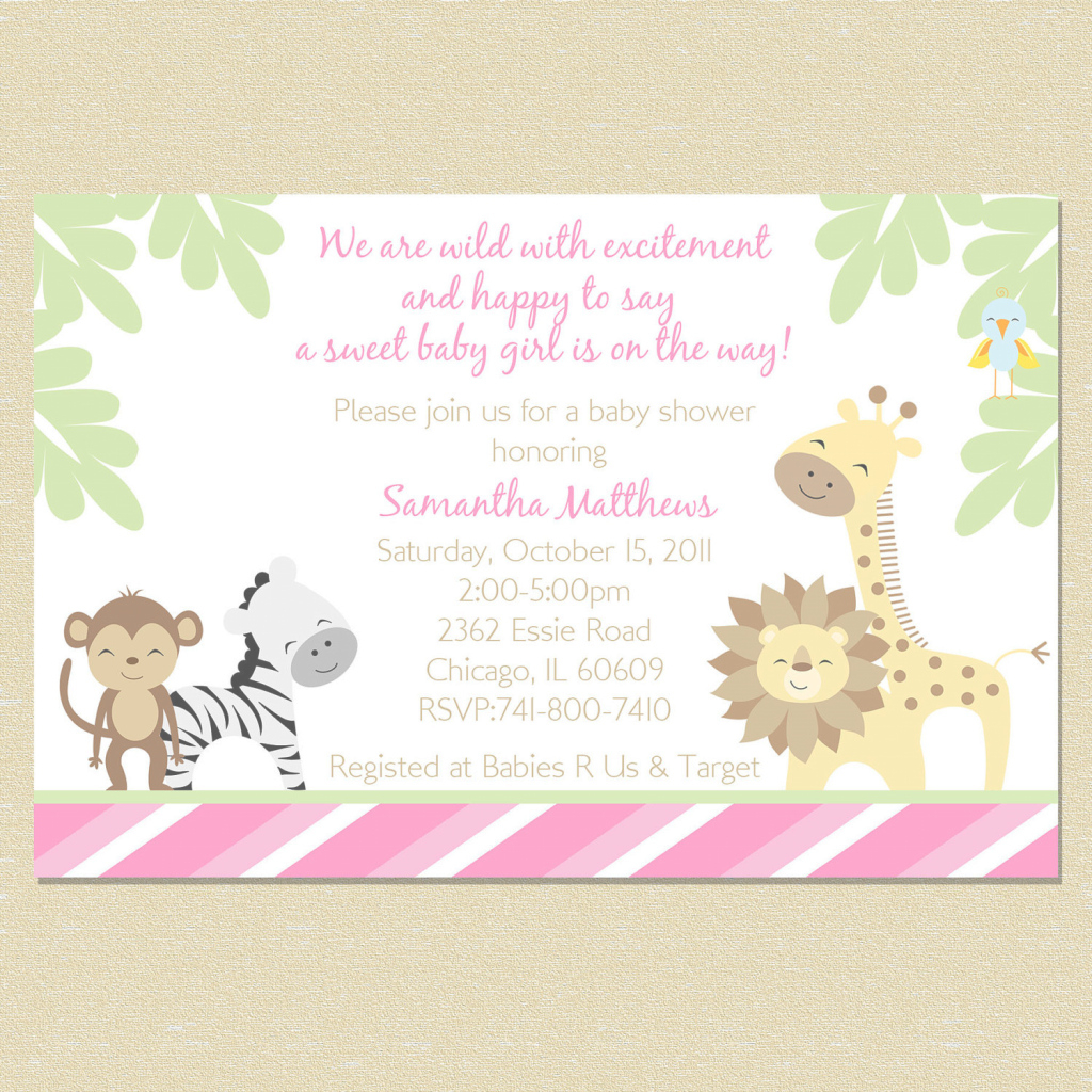 Amazing Baby Shower Ecards Fresh Divine Safari Animals Baby Shower within Awesome Safari Animals Baby Shower