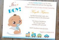 Amazing Baby Shower Invitations For Boys – Connu.co for New Baby Boy Baby Shower Invitations
