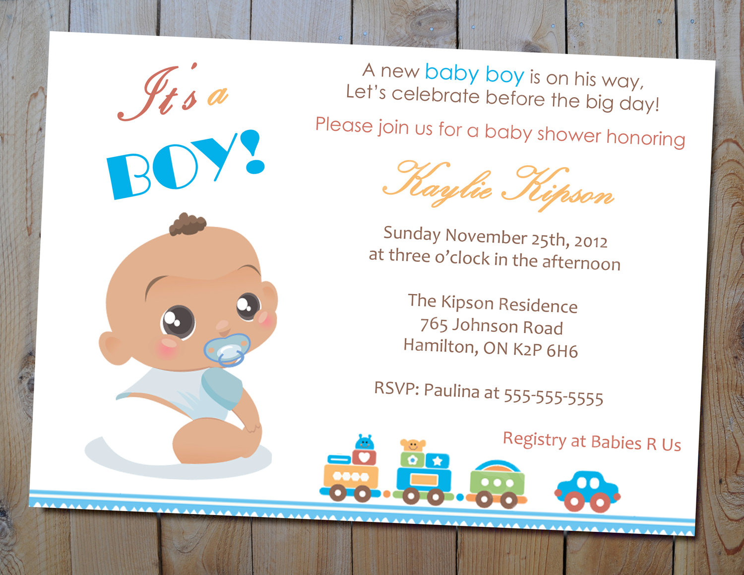 Amazing Baby Shower Invitations For Boys - Connu.co for New Baby Boy Baby Shower Invitations