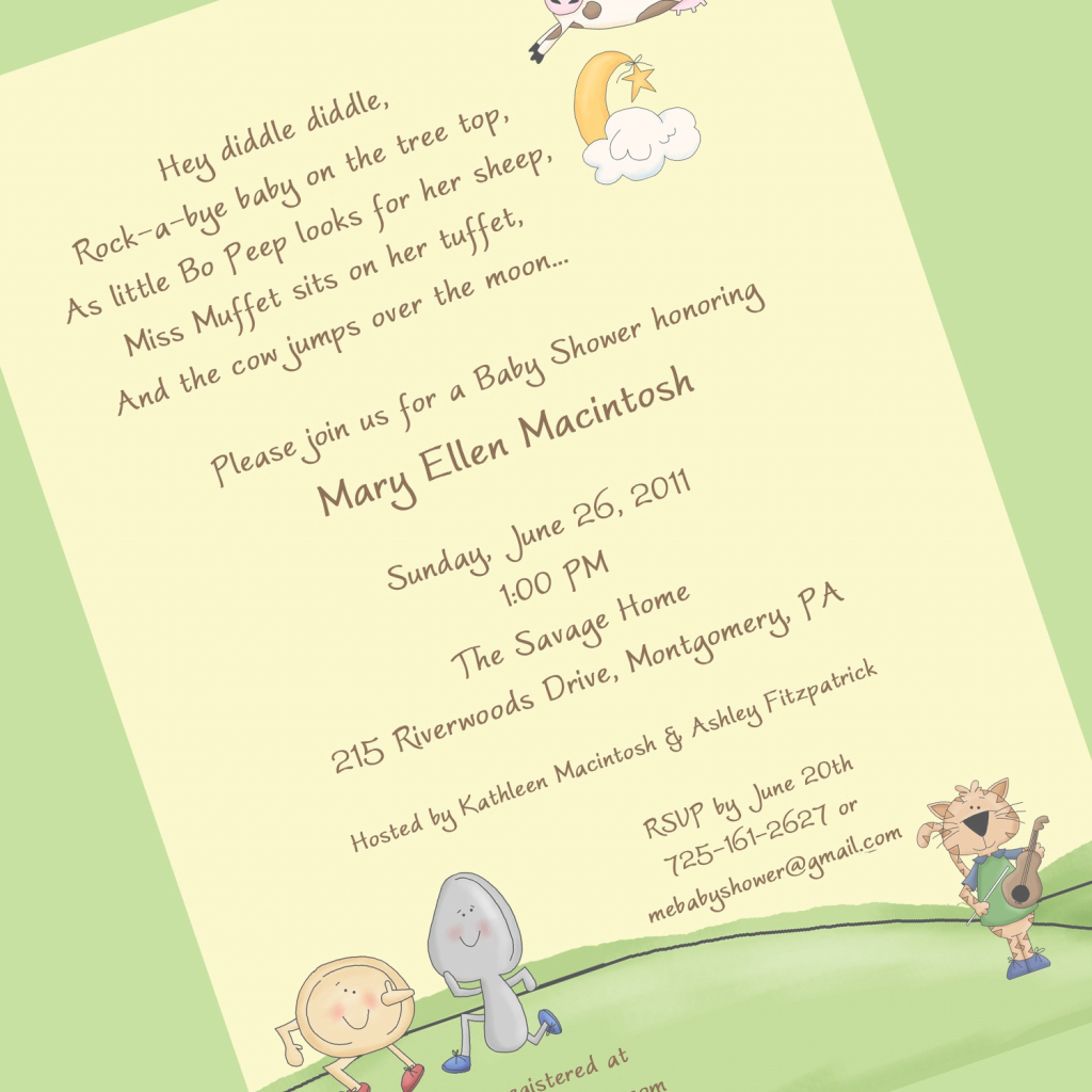Amazing Baby Shower Invite Rhymes | Invitation Ideas throughout Best of Baby Shower Rhymes