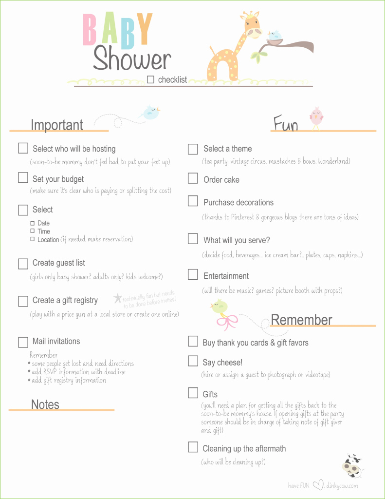 Amazing Baby Shower Planning Guide Amazing The Checklist Of Baby Shower for New Baby Shower Planning Guide