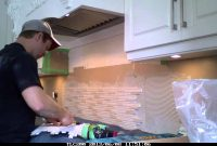 Amazing Backsplash Installation Glass/stone Mix Mosiac [Timelapse] – Youtube within How To Install Stone Backsplash