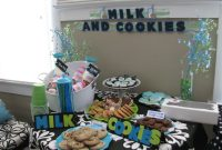 "Amazing Banana Lala: Baby Shower: ""milk And Cookies"" with Blue And Green Baby Shower"