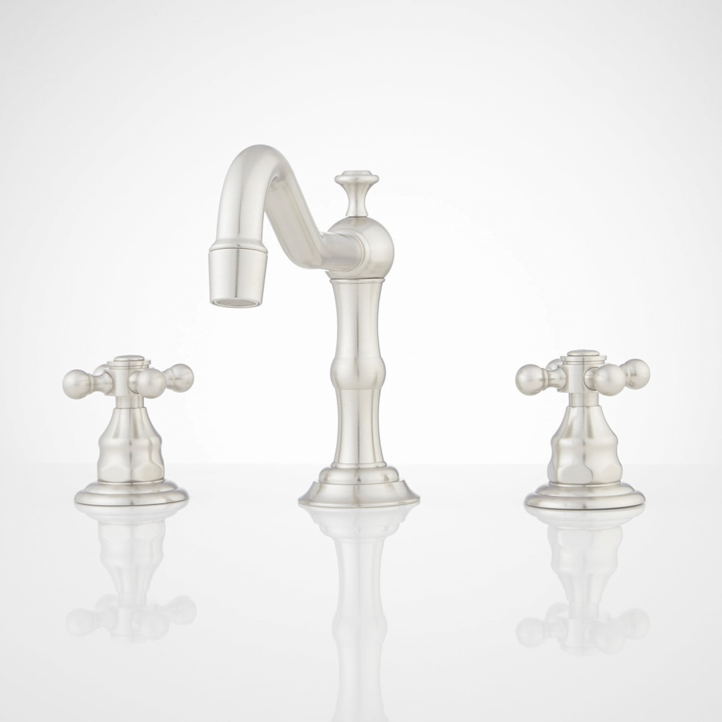 Amazing Barbour Widespread Bathroom Faucet - Bathroom in Satin Nickel Bathroom Faucet