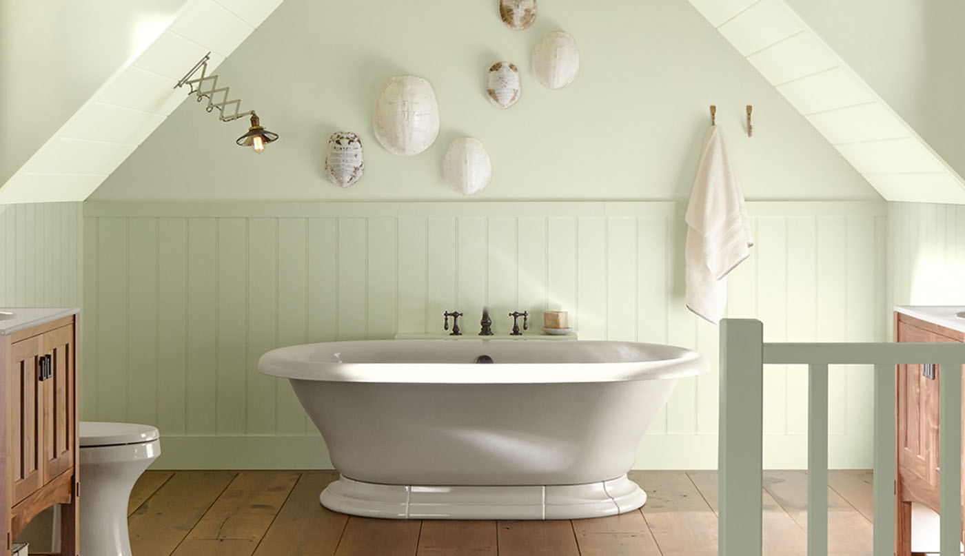 Amazing Bathroom Color Ideas & Inspiration | Benjamin Moore regarding Paint Ideas For Bathroom