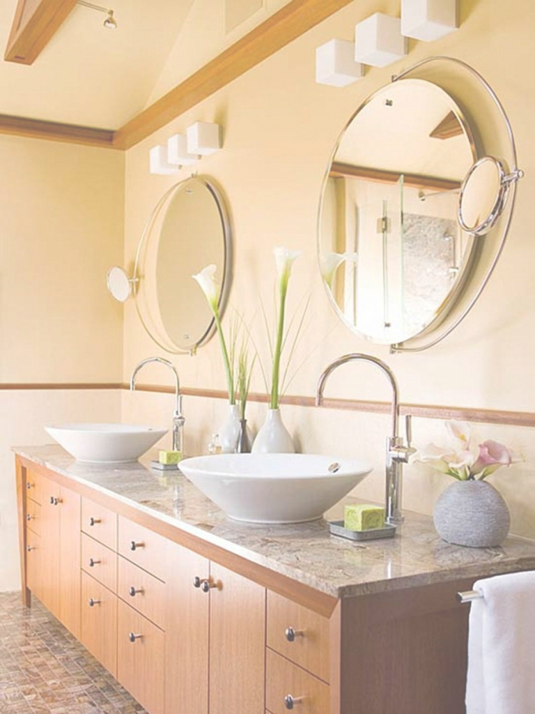 Amazing Bathroom Fabulous Bathroom Design With Long Brown Bathroom Cabinet pertaining to Fresh Bowl Bathroom Sink