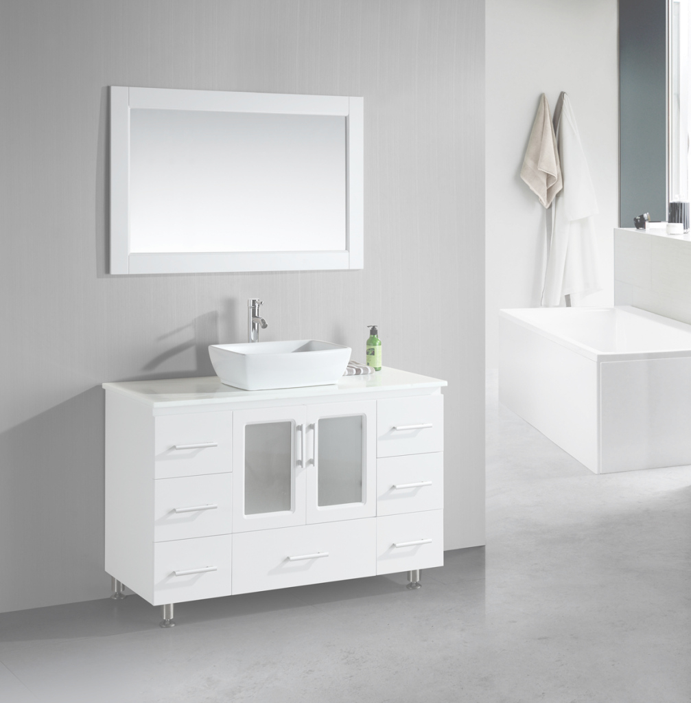 Amazing Bathroom: Free Standing White Bathroom Vanities In Single Bathroom with regard to Unique Free Standing Bathroom Vanity