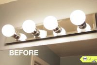 Amazing Bathroom Makeover Tip, Replace Your Bathroom Lighting – Youtube for Review Bathroom Vanity Light Bulbs