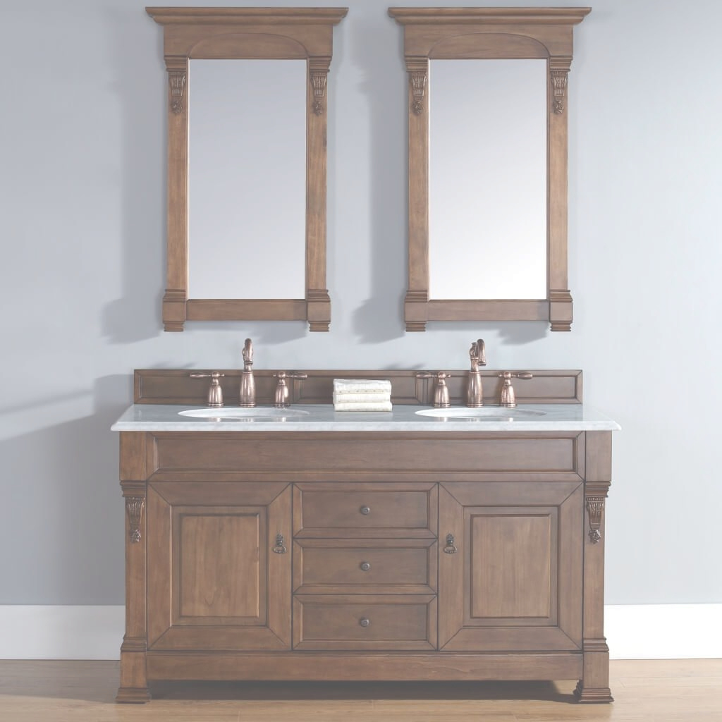 Amazing Bathroom: Solid Wood Country Bathroom Vanity With Twin Undermount with regard to Country Bathroom Vanities