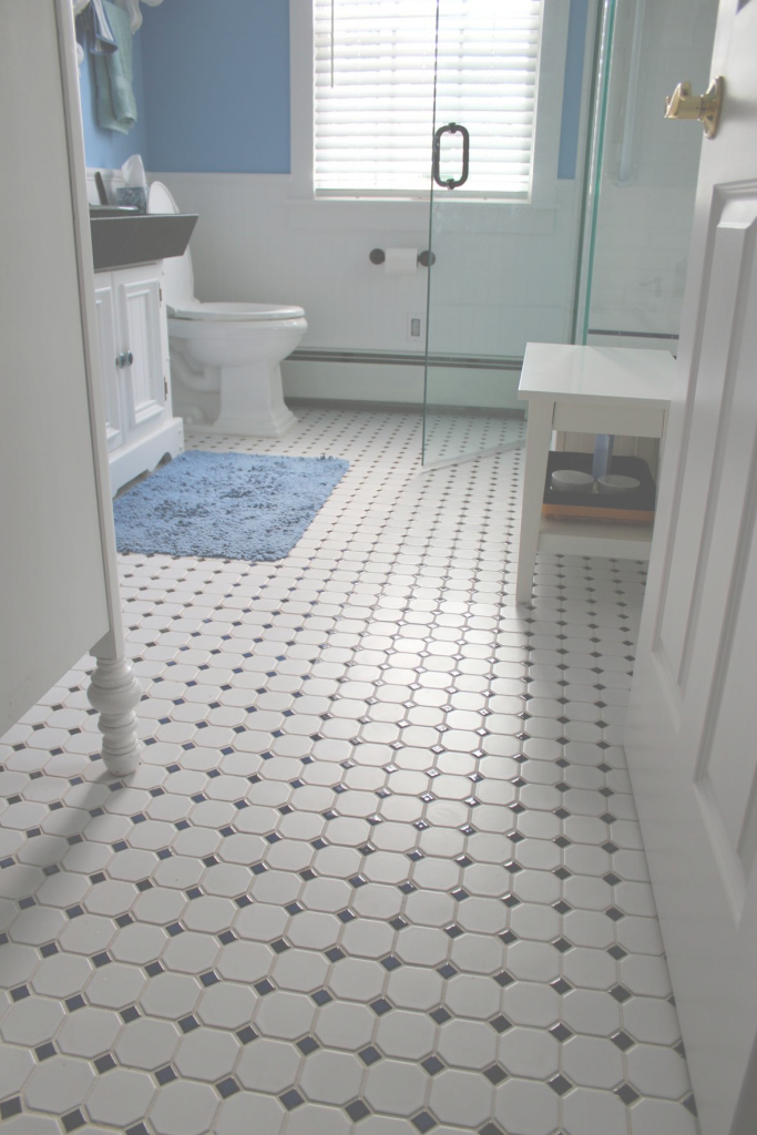 Amazing Black And White Tile Lowes Vintage Black And White Bathroom Ideas inside Unique Bathroom Floor Tile Lowes