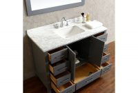Amazing Buy Vincent 48 Inch Solid Wood Single Bathroom Vanity In Charcoal in 44 Bathroom Vanity
