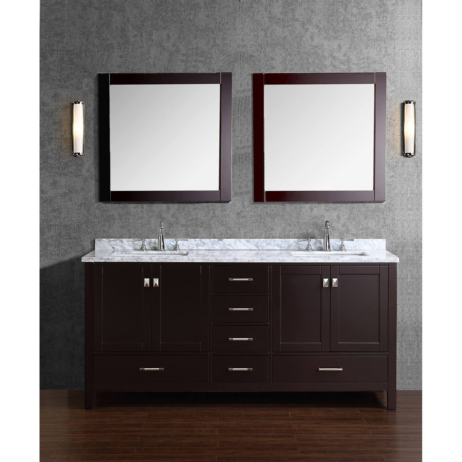Amazing Buy Vincent 72 Inch Solid Wood Double Bathroom Vanity In Espresso Hm regarding Dark Bathroom Vanity