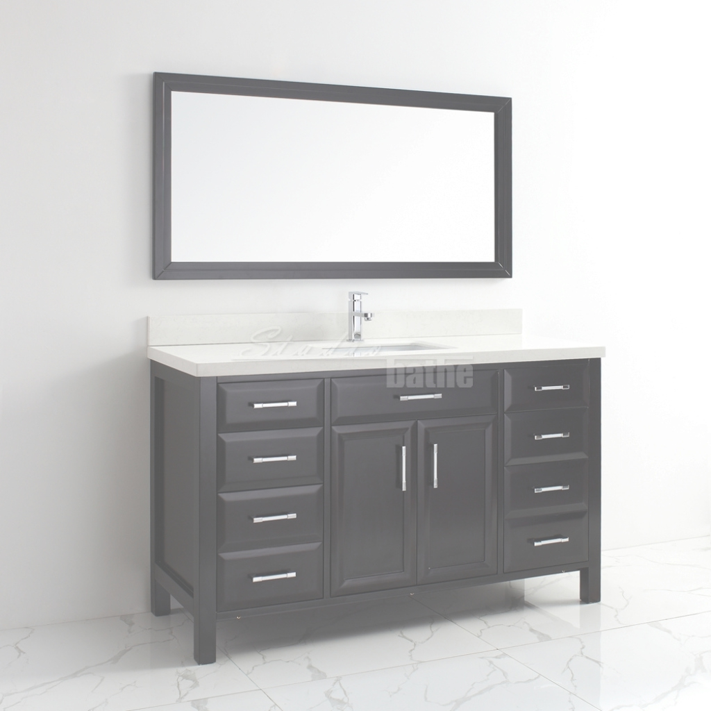 Amazing Calais 60 Inch Transitional Single Sink Bathroom Vanity Espresso Finish for Luxury 60 Inch Single Sink Bathroom Vanity
