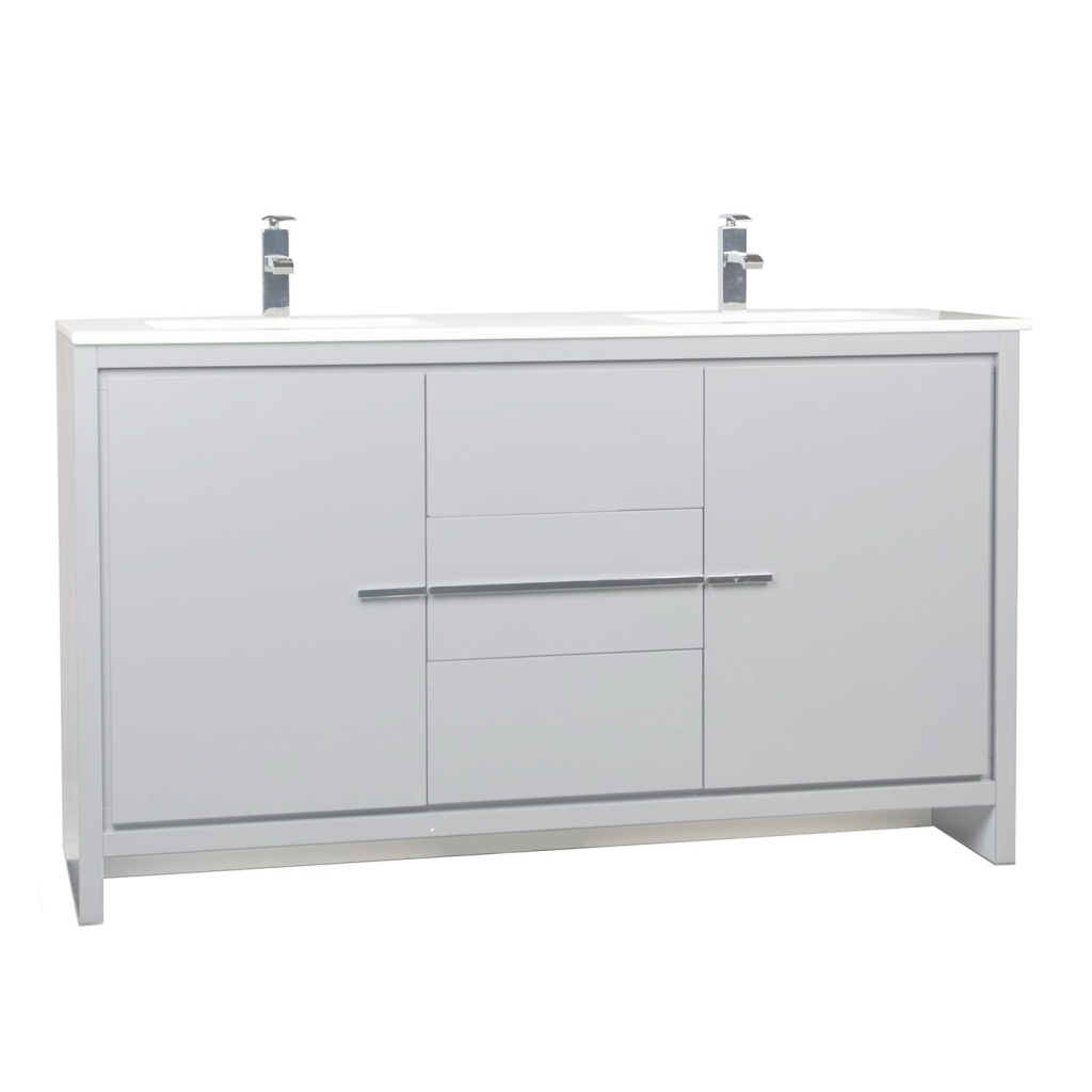 Amazing Cbi Enna 59 Inch Modern Bathroom Vanity In Metalic Grey Tn-La1510-Mg for Luxury 59 Inch Bathroom Vanity