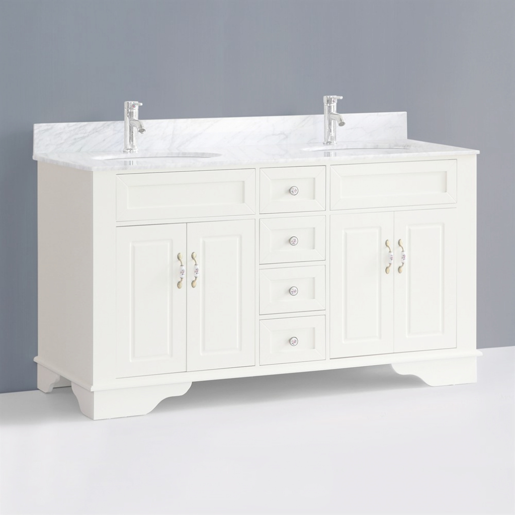 Amazing Classic 59 Inch Double Sink Bathroom Vanitybosconi Traditional for Luxury 59 Inch Bathroom Vanity