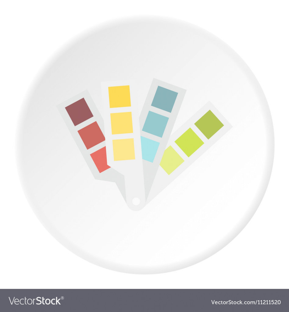 Amazing Color Palette Icon Flat Style Royalty Free Vector Image throughout Elegant Color Palette Icon