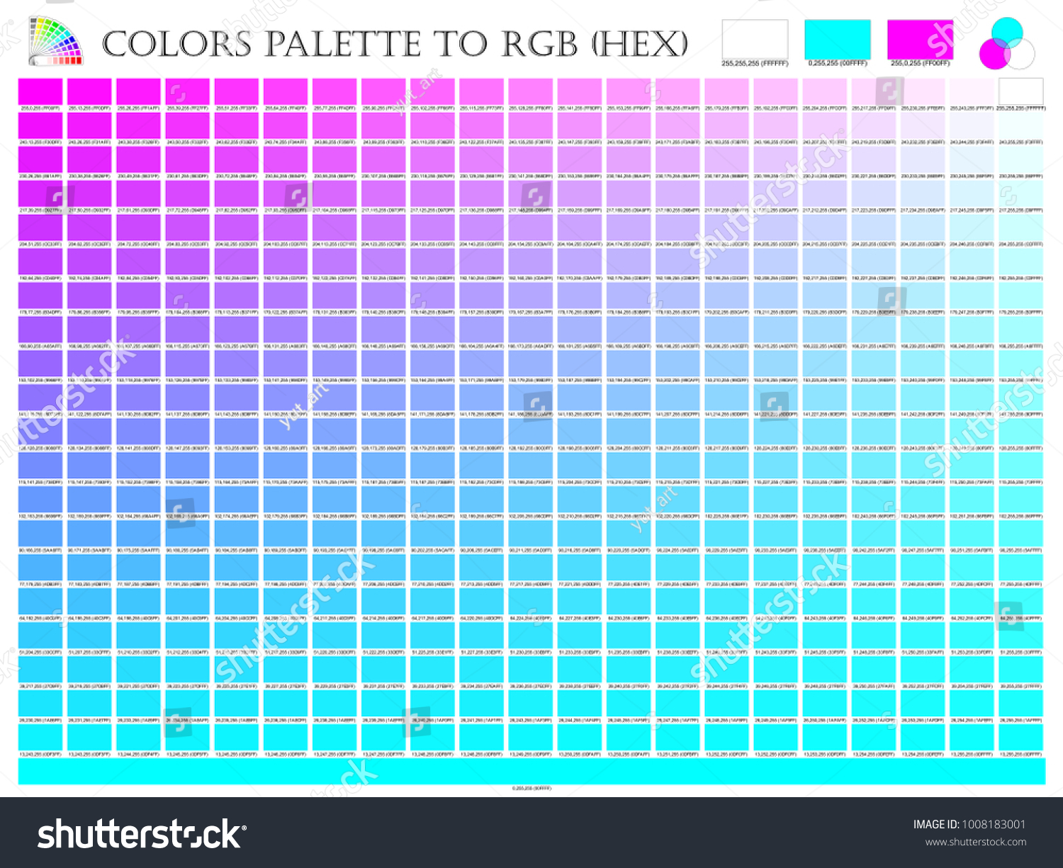 Amazing Color Palette Mixer 3 Color Pink Stock Vector 1008183001 - Shutterstock with regard to Awesome Color Palette In R