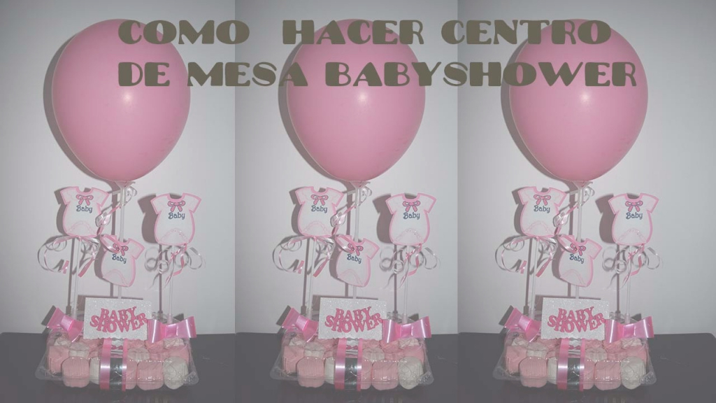 Amazing Como Hacer Centro De Mesa Babyshower Facil Y Economico - Youtube pertaining to Set Centros De Mesa Para Baby Shower Economicos