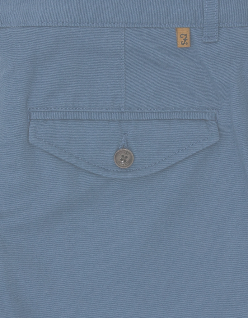 Amazing Crane Short Soft Twill -Dusky Blue | Fields Menswear for Dusky Blue