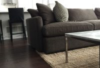 Amazing Crate & Barrel Lounge Ii (Truffle), Jute Rug, Marble Top Table for Crate And Barrel Living Room