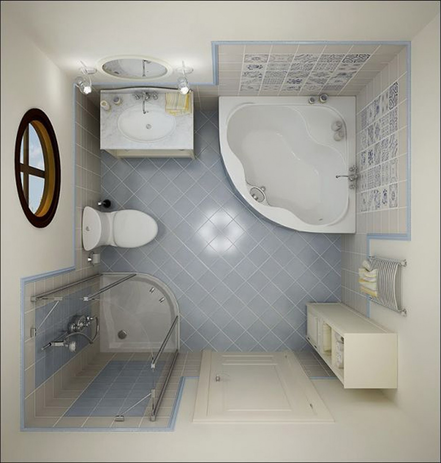 Amazing Curving White Bath Up Plus White Oval Sink Also Toilet Combined With regarding Unique Oval Room Blue Bathroom