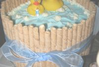 Amazing Cute Baby Shower Cake! For Boy Or Girl – Just Change The Ribbon pertaining to Boy Baby Shower Colors