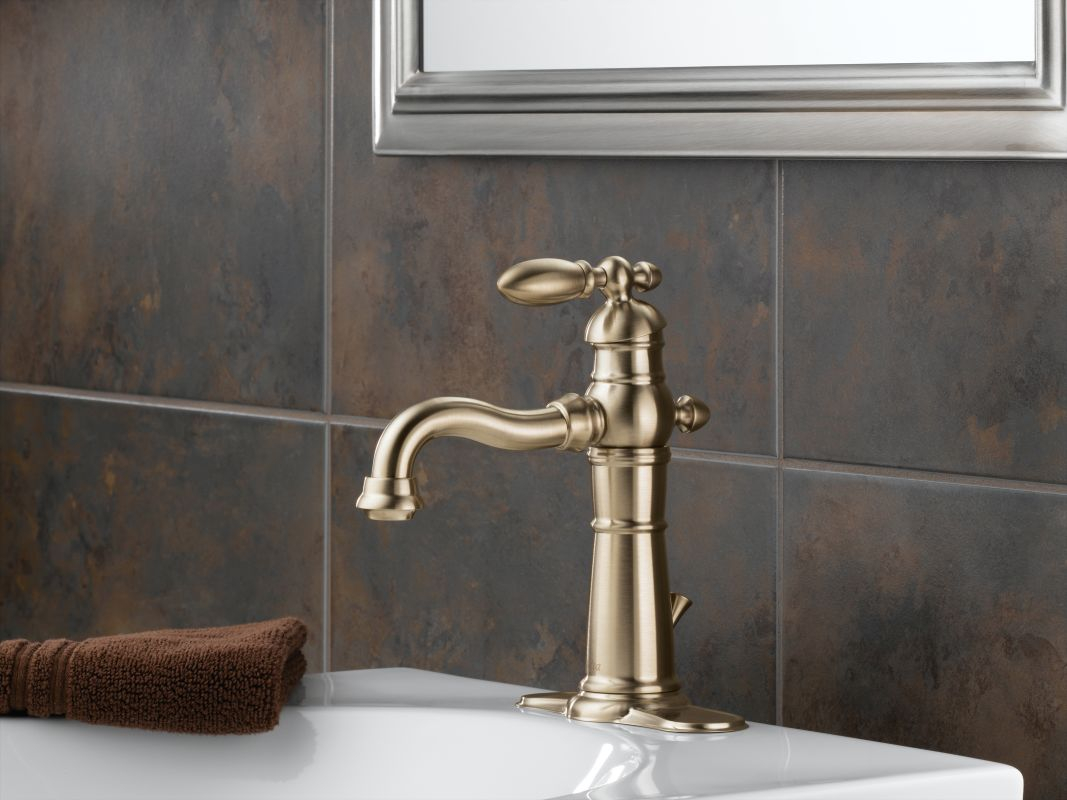 Amazing Delta 555Lf-Rb Venetian Bronze Victorian Single Hole Bathroom Faucet within Victorian Bathroom Faucet