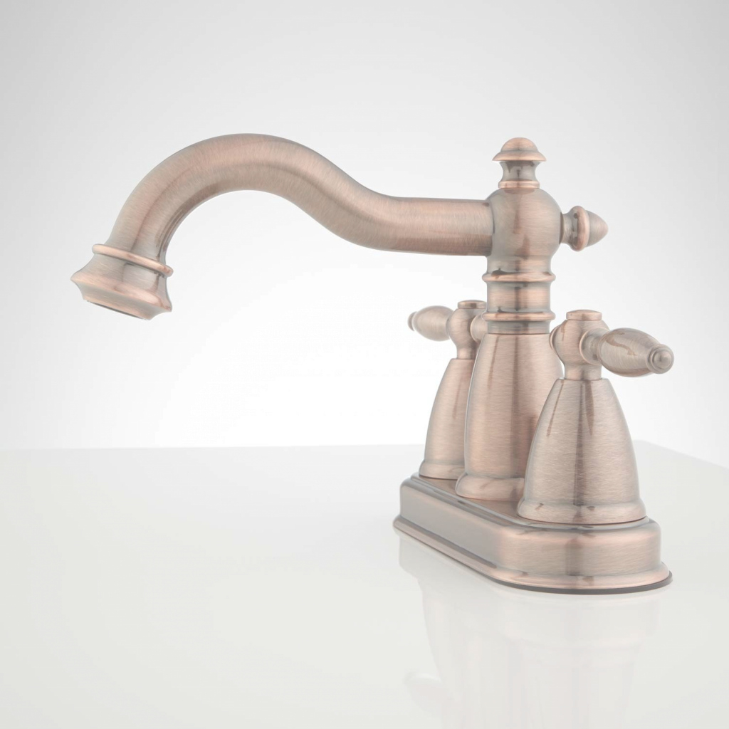 Amazing Double Copper Bathroom Faucets Brushed Copper Bathroom Faucets intended for New Copper Faucet Bathroom