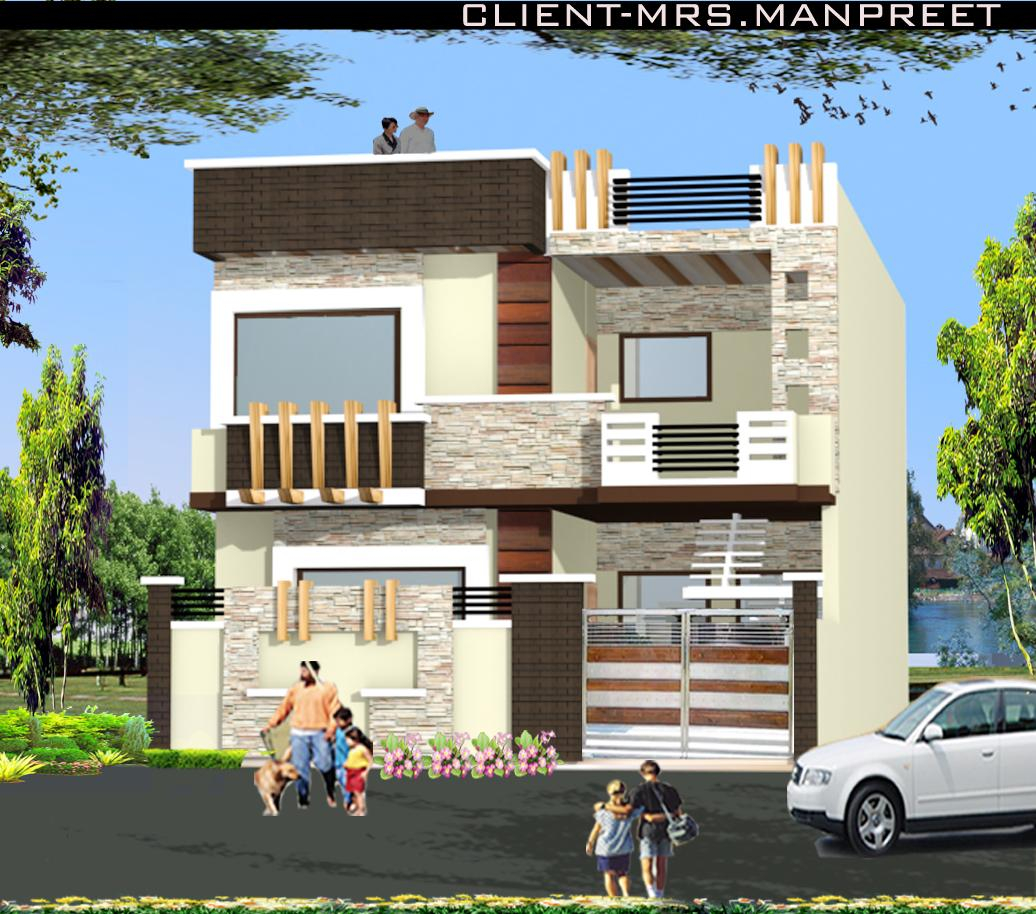 Amazing Double Story Home Elevation Design - Gharexpert regarding Review Indian Home Elevation Design Photo Gallery