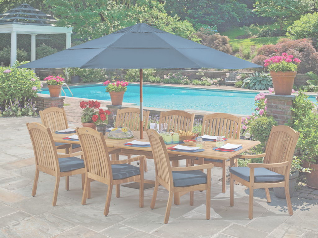 Amazing Eastchester 9 Pc. Solid Teak Dining Set - Fortunoff Backyard Store inside Fortunoff Backyard Store