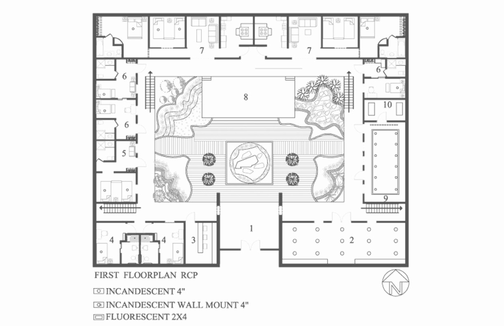 Amazing Elegant Hacienda House Plans Center Courtyard Ideas Entrancing Plan throughout Review Hacienda House Plans Center Courtyard Image