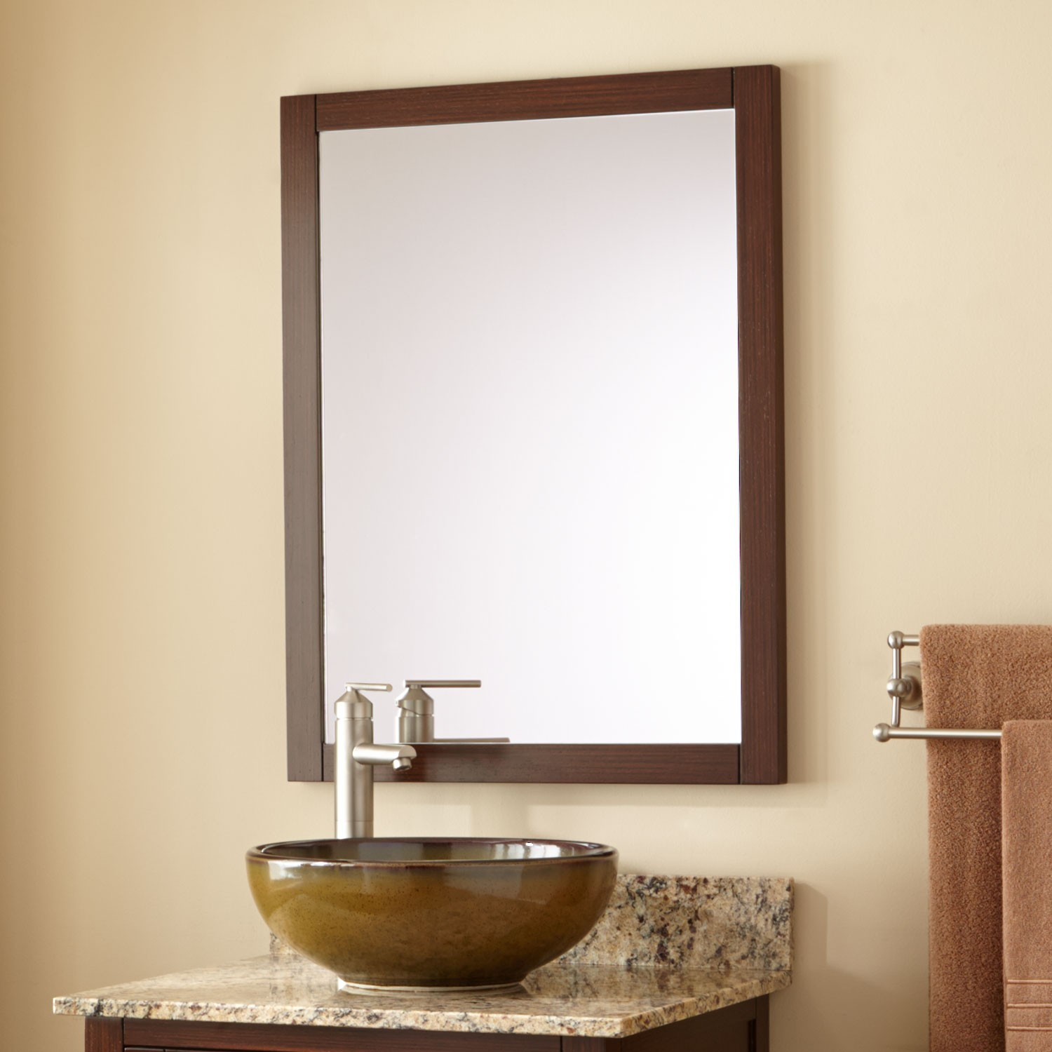 Amazing Everett Vanity Mirror - Wenge - Bathroom for Bathroom Vanity Mirrors