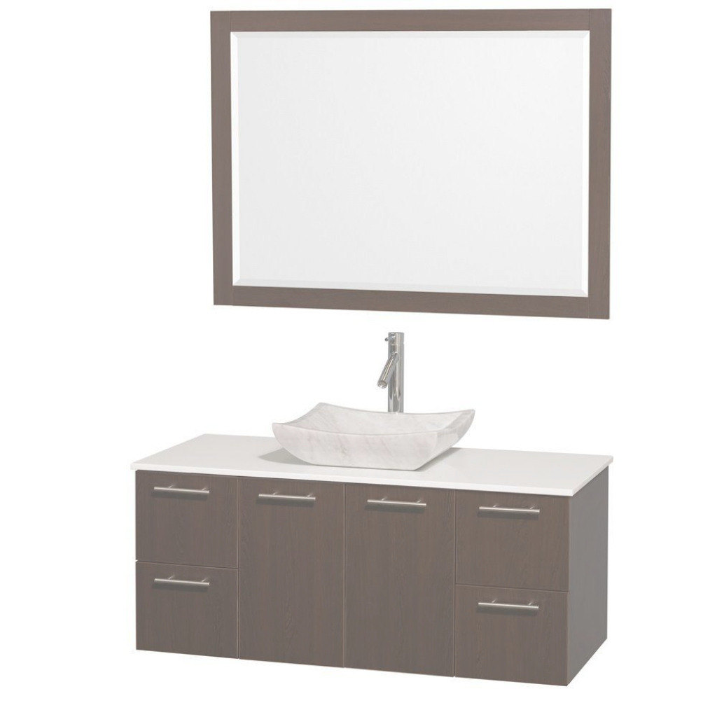 Amazing Floating - Bathroom Vanities - Bath - The Home Depot within Review Floating Bathroom Sink