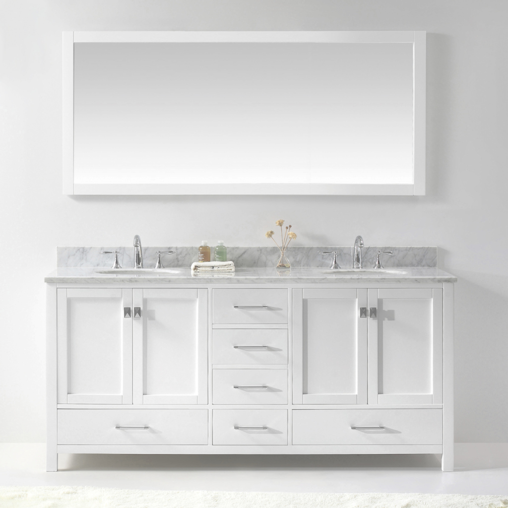 Amazing Genuine 70 Inch Double Sink Bathroom Vanity Beautiful Design Of 72 regarding New 70 Inch Bathroom Vanity