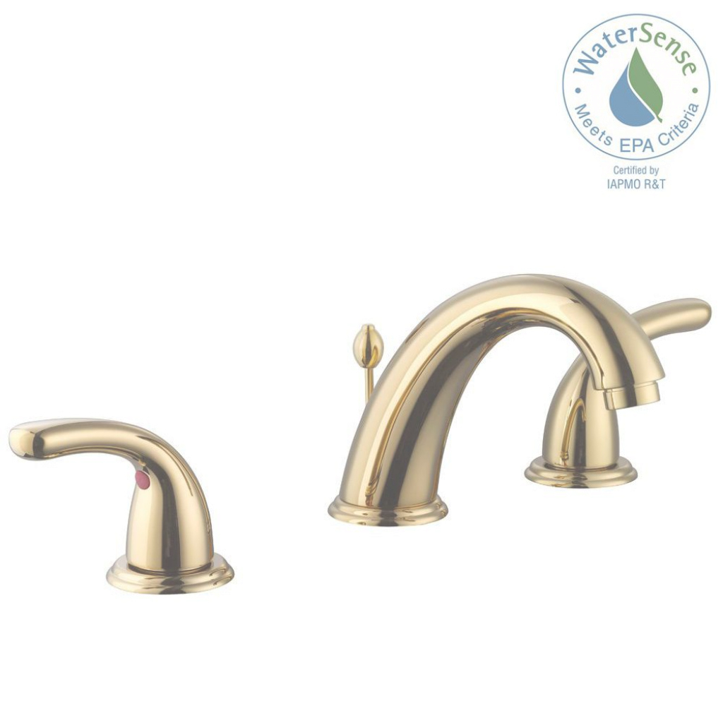 Amazing Glacier Bay Builders 8 In. Widespread 2-Handle High-Arc Bathroom pertaining to Luxury Brushed Brass Bathroom Faucet