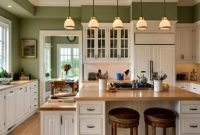 Amazing Green Painted Kitchen Cabinets Ideas Great Kitchen Wall Colors Full intended for Great Kitchen Colors