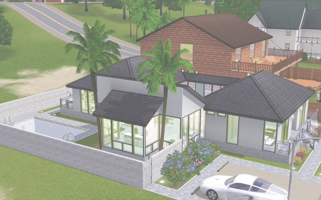 Amazing House: Perfect Plan The Sims House Plans: The Sims House Plans within Sims House Plans