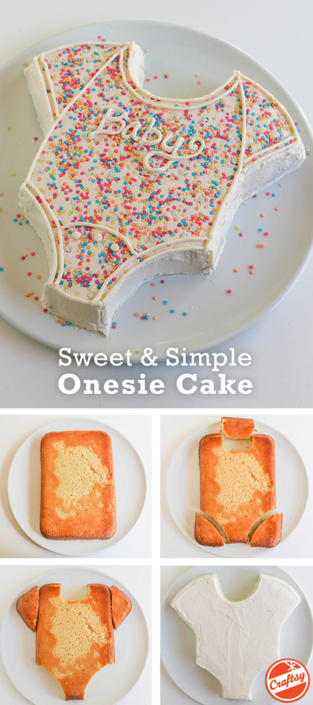 Amazing How To Make The Easiest (And Cutest!) Baby Shower Cake Ever regarding How To Make A Baby Shower Cake